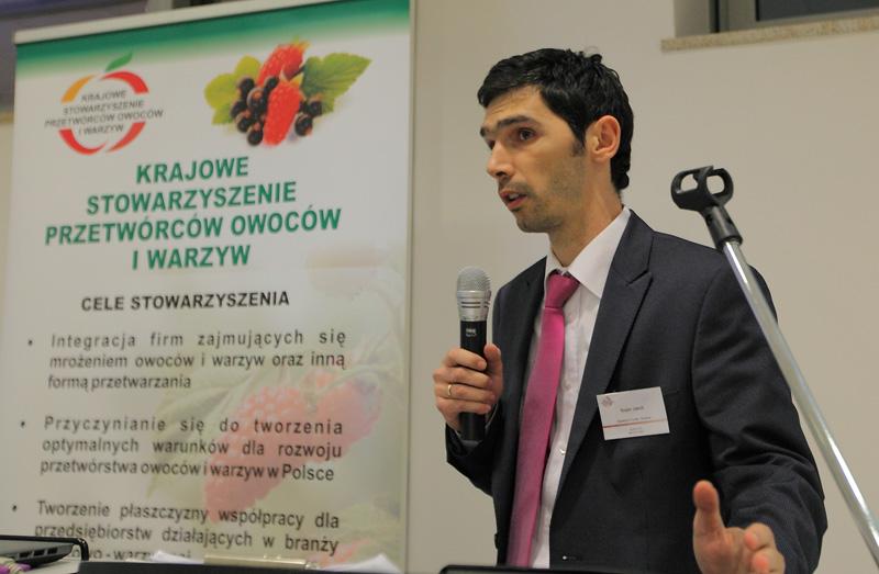 Jakub Szajera z firmy Quadrum Foods, aktualności, Polska, branża przetwórcza, Krajowe Stowarzyszenie Przetwórców Owoców i Warzyw, KSPOiW