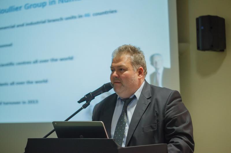 O jakości owoców czarnej porzeczki mówił m.in. dr Maciej Sroczyński z firmy Timac Agro
