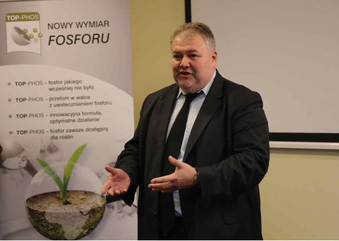 Chcemy przedstawić nowy sposób nawożenia fosforem, a to dzięki naszej nowej unikatowej formule fosforu, który zawarty jest w nowej formul Top-Phos – mówił Maciej Sroczyński z firmy Timac Agro.