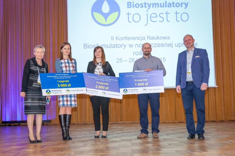 Konferencja zakończyła się wyłonieniem laureatów konkursu młodego naukowca. Wśród zwycięzców znaleźli się Izabela Michalak I, Sylwia Karolczyk II, Rajmund Glinicki III. Fundatorem nagród była firma Arysta LifeScience.