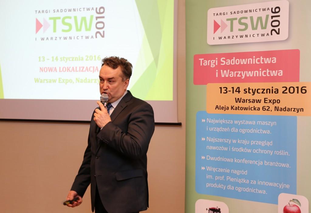 Jacek Kłudka z firmy Oikos, która organizuje targi TSW