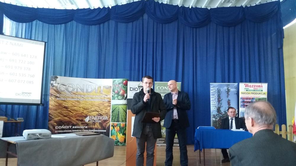 Piotr Ordakowski w krótkim przemówieniu wskazał źródła sukcesu rodzinnego gospodarstwa Ordakowskich