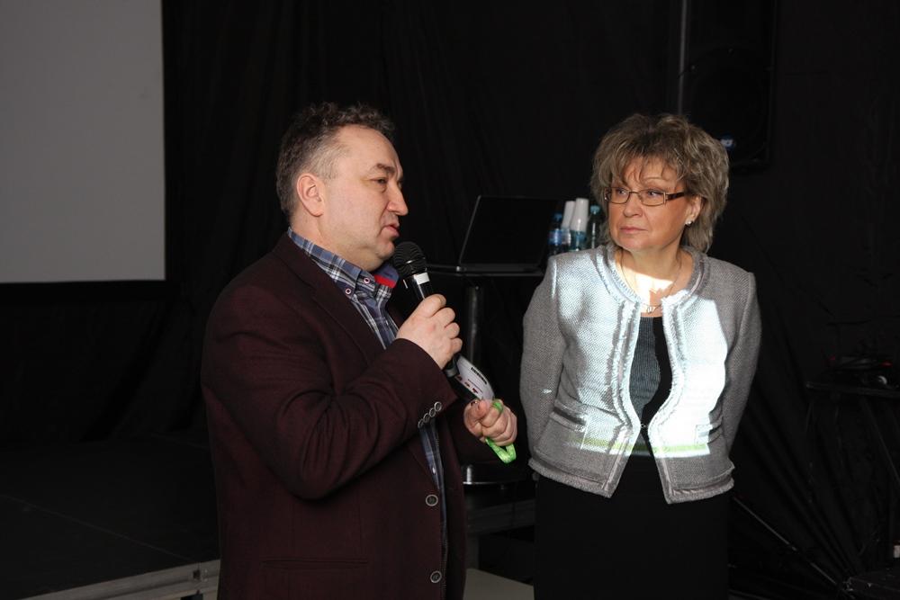 Jacek Kłudka, prezez OW Oikos i prof. dr hab. Małgorzata Korbin podczas otwarcia konferencji