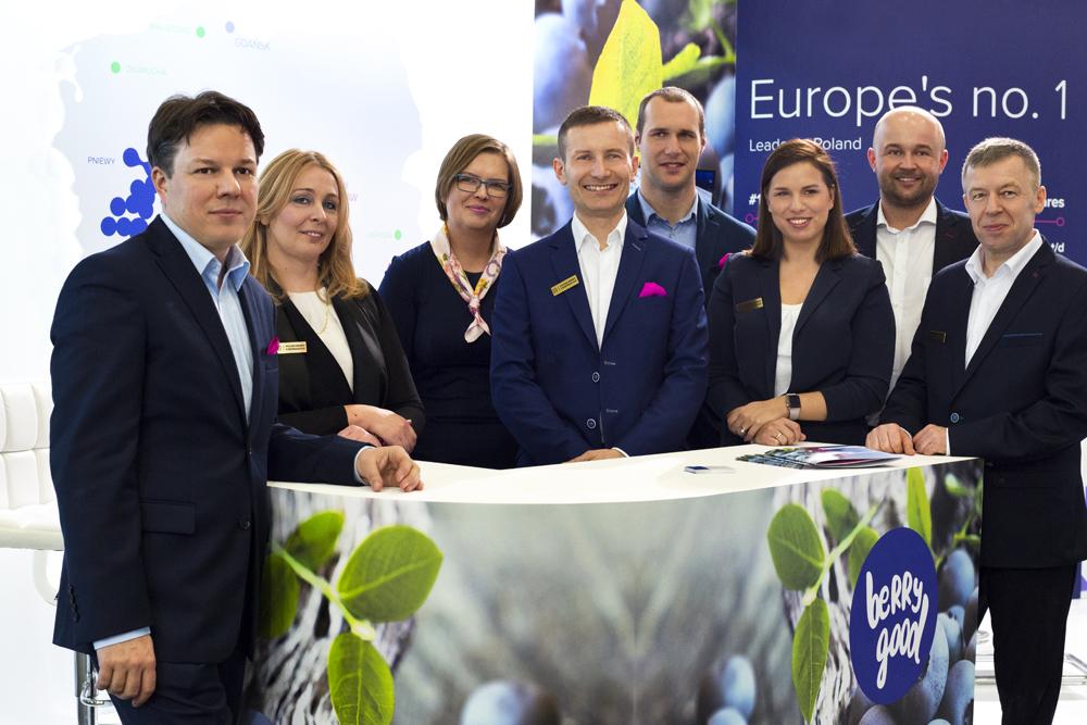 Przedstawiciele wszystkich producentów borówek, tworzących Polish Berry Cooperative na targach Fruit Logistica 2016