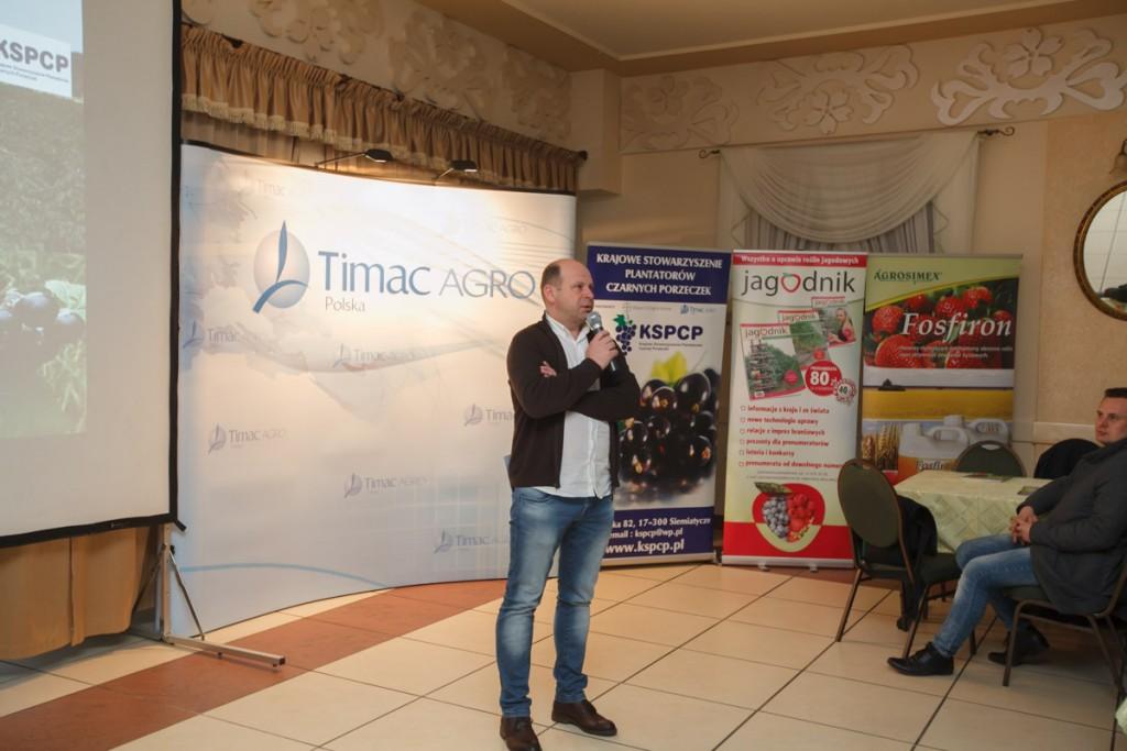 dr Piotr Baryła przedstawił jak wygląda produkcja porzeczek w Polsce