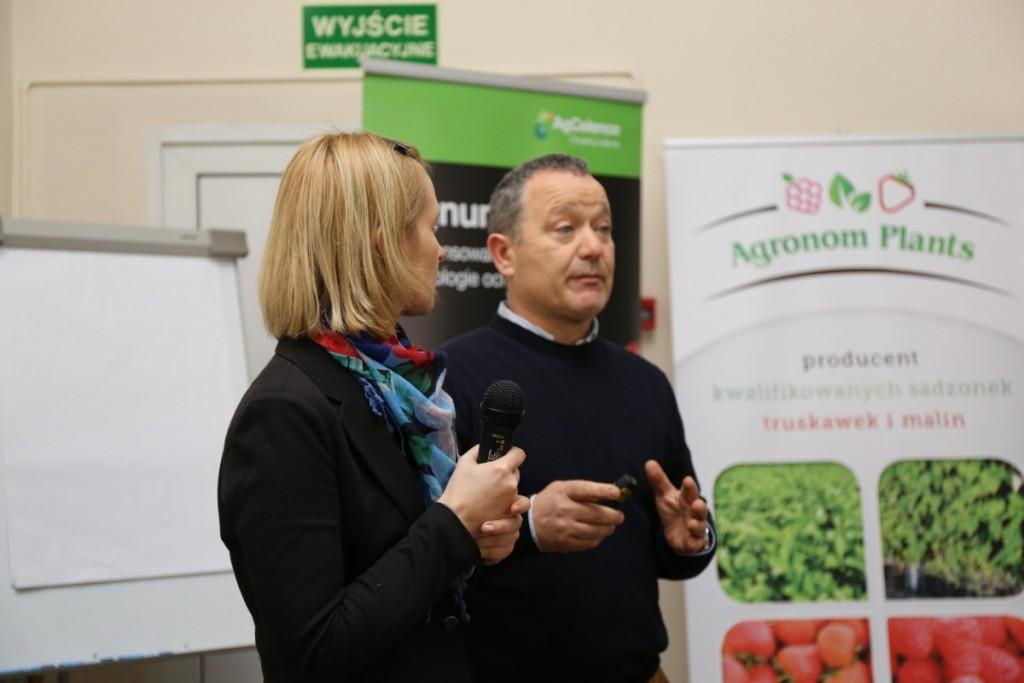 Przedstawiciele firmy Vivai Mazzoni - Joanna Ziębińska i Antonio Ferraresi
