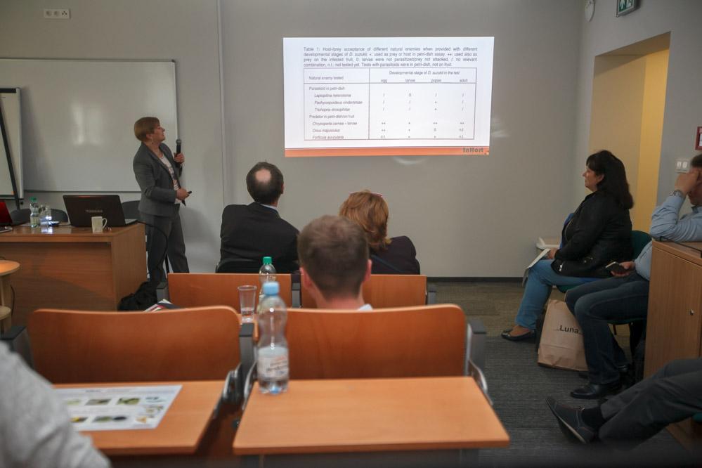 Prof. dr hab. Barbara Łabanowska przedstawiła informacje o szkodniku Drosophila suzukii
