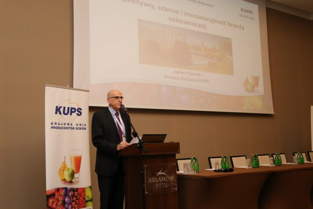 Julian Pawlak, prezes Krajowej Unii Producentów Soków