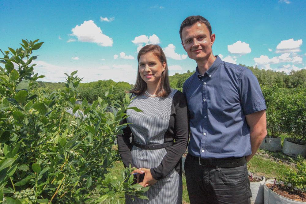 Nikola Kutnjak i Agata Małkiewicz zarządzający firmą Dar Blue