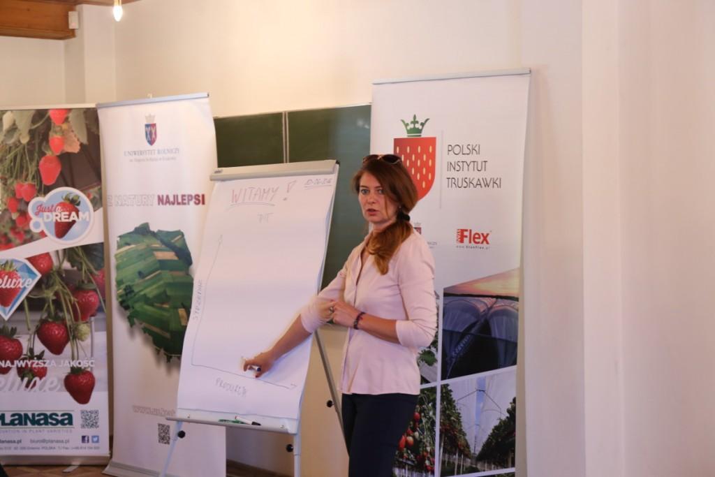 Monika Gluza, prezes Polskie Instytutu Truskawki