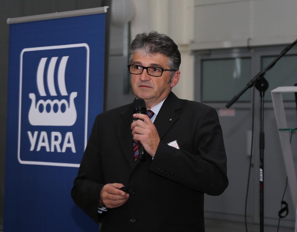 Temat uprawy malin na Bałkanach przedstawił Stevan Mesarovic z firmy Yara Bałkany